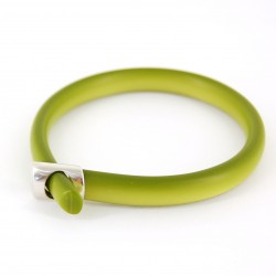 Lime Pearl Loop Bangle