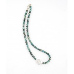 Silver & African turquoise...