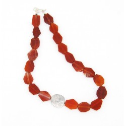 Silver & carnelian necklace