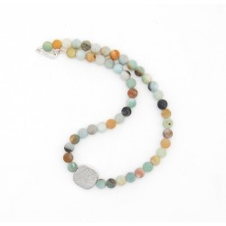 Silver & amazonite necklace