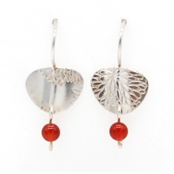 Silver & carnelians earrings