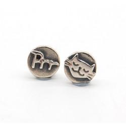 Prr, cat earrings