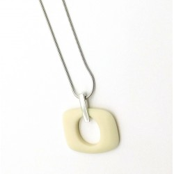 Cream Orbit Pendant