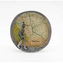 Unique Nab Scar map Brooch